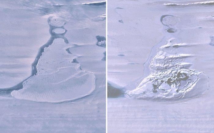 Impresionante lago antártico desapareció repentinamente y su agua regresó al océano