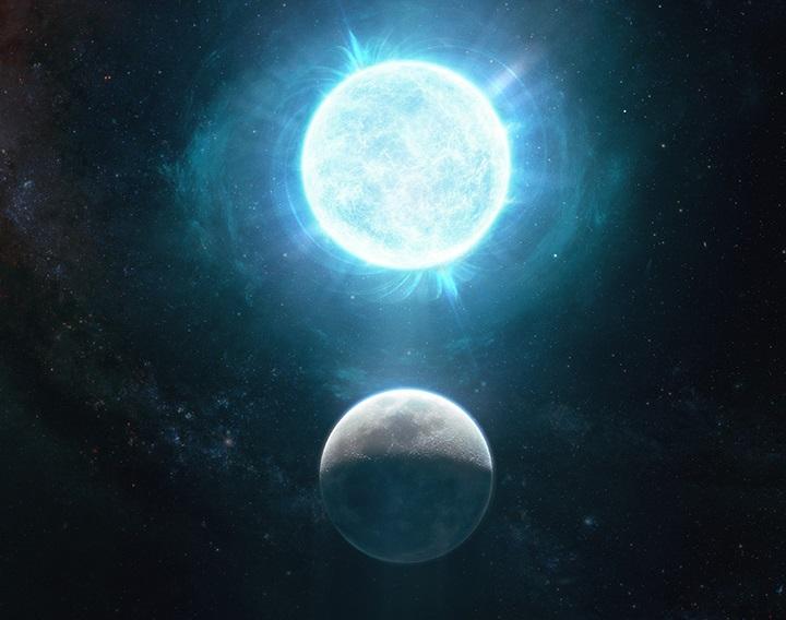 Esta estrella muerta tiene más masa que nuestro Sol pero en el tamaño de la Luna