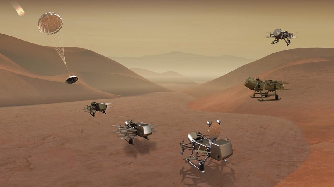 La NASA anuncia su misión Dragonfly a Titán que buscará vida extraterrestre