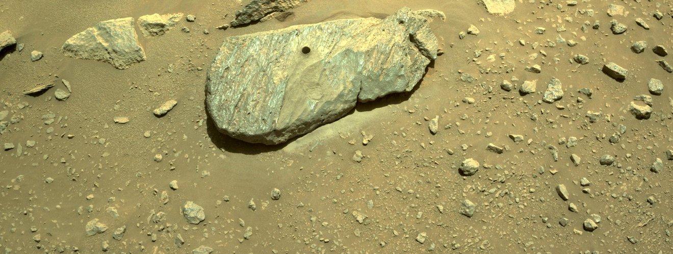 El rover Perseverance tomó su primera muestra de suelo marciano