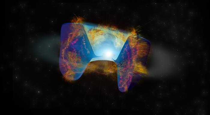 Astrónomos identifican un tipo completamente nuevo de supernova nacida de una violenta fusión de estrellas
