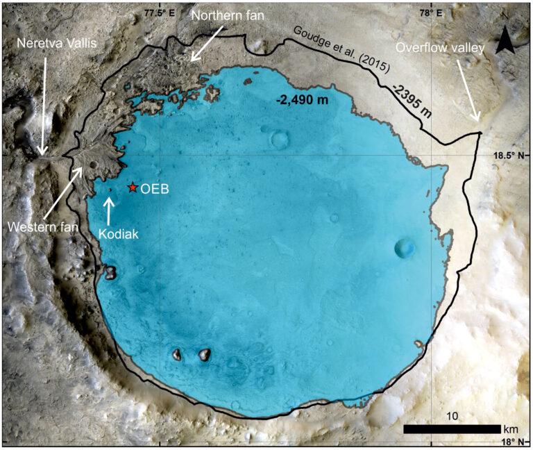 Perseverance confirma la existencia pasada de un lago en el cráter Jezero