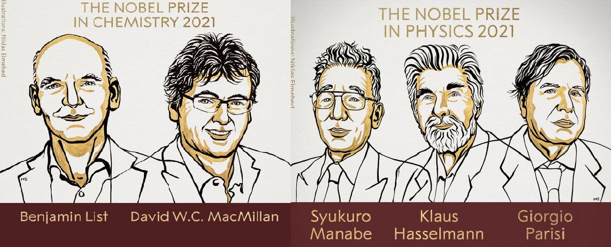 Estos son los premios Nobel en Física y Química del 2021